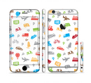 The Colorful Travel Collage Pattern Sectioned Skin Series for the Apple iPhone 6s