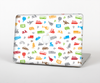 The Colorful Travel Collage Pattern Skin for the Apple MacBook Pro Retina 15""