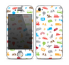 The Colorful Travel Collage Pattern Skin for the Apple iPhone 4-4s