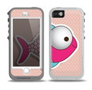 The Colorful Vector Big-Eyed Fish Skin for the iPhone 5-5s OtterBox Preserver WaterProof Case