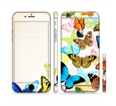 The Colorful Vector Butterflies Sectioned Skin Series for the Apple iPhone 6s