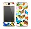 The Colorful Vector Butterflies Skin for the Apple iPhone 4-4s