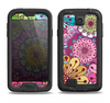 The Colorful Vector Flower Collage Samsung Galaxy S4 LifeProof Fre Case Skin Set