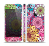The Colorful Vector Flower Collage Skin Set for the Apple iPhone 5
