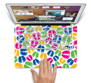 "The Colorful Vector Footprints Skin Set for the Apple MacBook Pro 15"" with Retina Display"