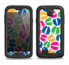 The Colorful Vector Footprints Samsung Galaxy S4 LifeProof Fre Case Skin Set