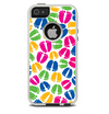 The Colorful Vector Footprints Skin For The iPhone 5-5s Otterbox Commuter Case