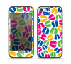 The Colorful Vector Footprints Skin Set for the iPhone 5-5s Skech Glow Case