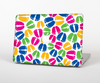 The Colorful Vector Footprints Skin for the Apple MacBook Air 13""