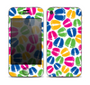 The Colorful Vector Footprints Skin for the Apple iPhone 4-4s