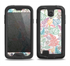 The Colorful Vector Leaves Samsung Galaxy S4 LifeProof Fre Case Skin Set