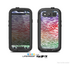 The Colorful Vector Zebra Animal Print Skin For The Samsung Galaxy S3 LifeProof Case