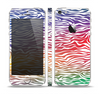 The Colorful Vector Zebra Animal Print Skin Set for the Apple iPhone 5