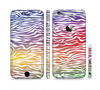 The Colorful Vector Zebra Animal Print Sectioned Skin Series for the Apple iPhone 6 Plus