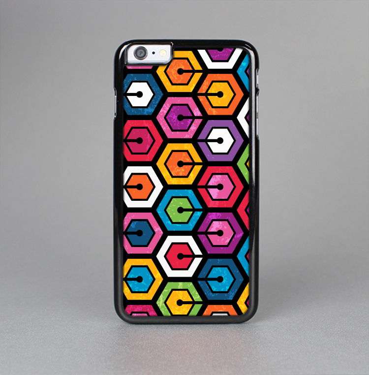 The Colorful Vibrant Hexagons Skin-Sert Case for the Apple iPhone 6 Plus