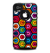 The Colorful Vibrant Hexagons Skin for the iPhone 4-4s OtterBox Commuter Case