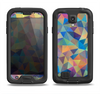 The Colorful Vibrant Triangle Connect Pattern Samsung Galaxy S4 LifeProof Fre Case Skin Set