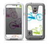 The Colorful Vintage Bike on White Pattern Skin for the Samsung Galaxy S5 frē LifeProof Case