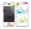 The Colorful Vintage Bike on White Pattern Skin for the Apple iPhone 4-4s
