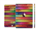 The Colorful Vivid Wood Planks Full Body Skin Set for the Apple iPad Mini 3