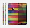 The Colorful Vivid Wood Planks Skin for the Apple iPhone 6