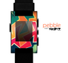The Colorful WIld Abstract Color Pattern Skin for the Pebble SmartWatch