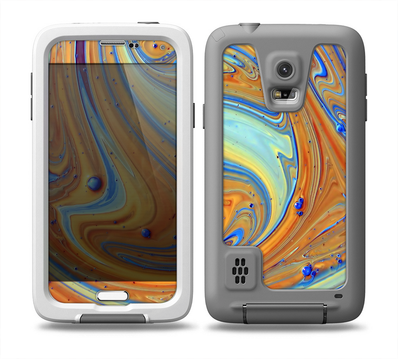 The Colorful Wet Paint Mixture Skin for the Samsung Galaxy S5 frē LifeProof Case