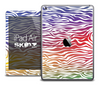 The Colorful Zebra Print Skin for the iPad Air