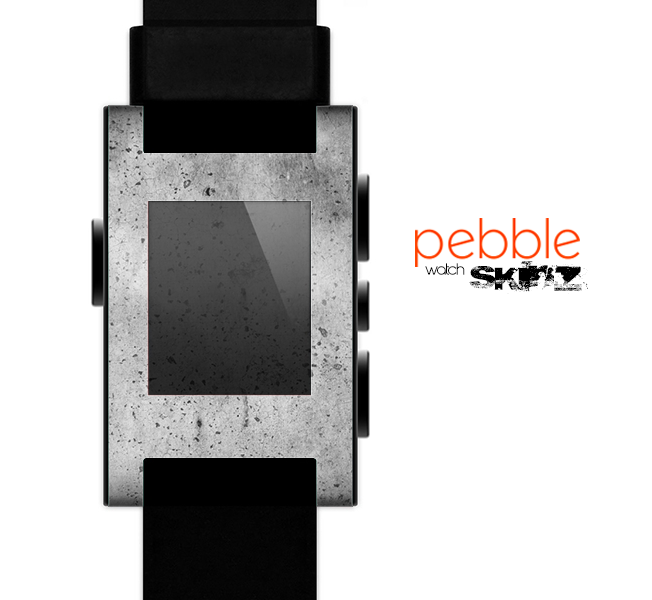 The Concrete Grunge Texture Skin for the Pebble SmartWatch