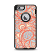 The Coral Abstract Pattern V34 Apple iPhone 6 Otterbox Defender Case Skin Set