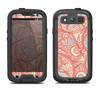 The Coral Abstract Pattern V34 Samsung Galaxy S4 LifeProof Fre Case Skin Set