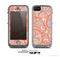 The Coral Abstract Pattern V34 Skin for the Apple iPhone 5c LifeProof Case