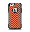 The Coral & Black Sketch Chevron Apple iPhone 6 Otterbox Commuter Case Skin Set