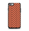 The Coral & Black Sketch Chevron Apple iPhone 6 Otterbox Symmetry Case Skin Set