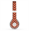 The Coral & Black Sketch Chevron Skin for the Beats by Dre Solo 2 Headphones