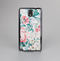 The Coral & Blue Grunge Watercolor Floral Skin-Sert Case for the Samsung Galaxy Note 3