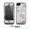 The Coral & Blue Grunge Watercolor Floral Skin for the Apple iPhone 5c LifeProof Case