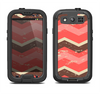 The Coral & Brown Wide Chevron Pattern Vintage V1 Samsung Galaxy S4 LifeProof Fre Case Skin Set