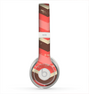 The Coral & Brown Wide Chevron Pattern Vintage V1 Skin for the Beats by Dre Solo 2 Headphones