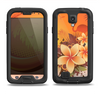 The Coral Colored Floral Pelical Samsung Galaxy S4 LifeProof Nuud Case Skin Set