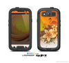 The Coral Colored Floral Pelical Skin For The Samsung Galaxy S3 LifeProof Case