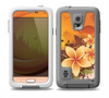 The Coral Colored Floral Pelical Skin Samsung Galaxy S5 frē LifeProof Case