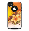 The Coral Colored Floral Pelical Skin for the iPhone 4-4s OtterBox Commuter Case