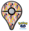 The Coral Colored SurfBoard Pattern Pokémon GO Plus Vinyl Protective Decal Skin Kit