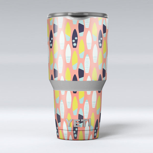 The_Coral_Colored_SurfBoard_Pattern_-_Yeti_Rambler_Skin_Kit_-_30oz_-_V1.jpg