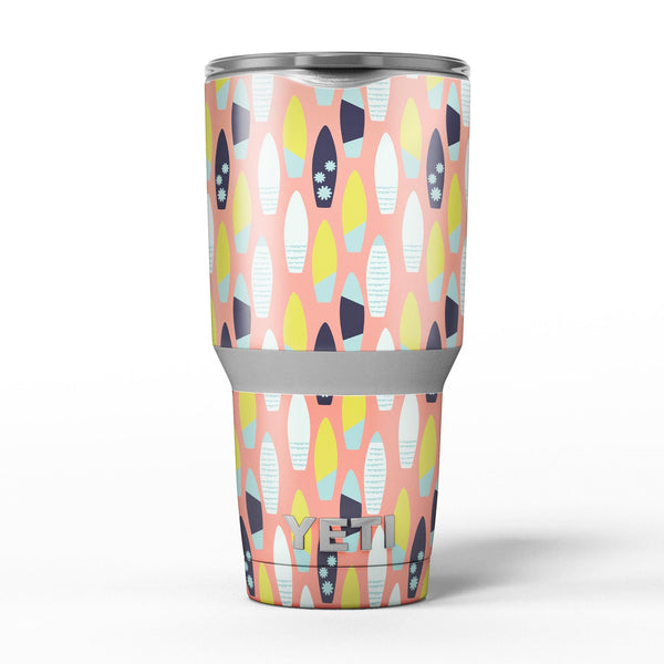 The_Coral_Colored_SurfBoard_Pattern_-_Yeti_Rambler_Skin_Kit_-_30oz_-_V5.jpg