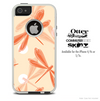 The Coral DragonFly Bundle Skin For The iPhone 4-4s or 5-5s Otterbox Commuter Case