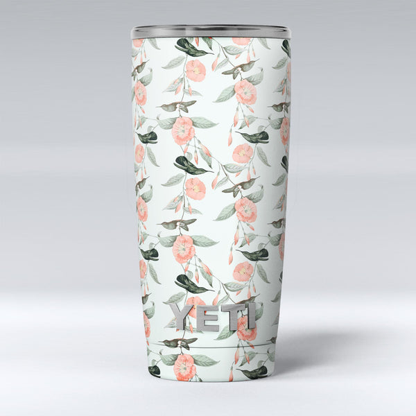 The_Coral_Flower_and_Hummingbird_All_Over_Pattern_-_Yeti_Rambler_Skin_Kit_-_20oz_-_V1.jpg