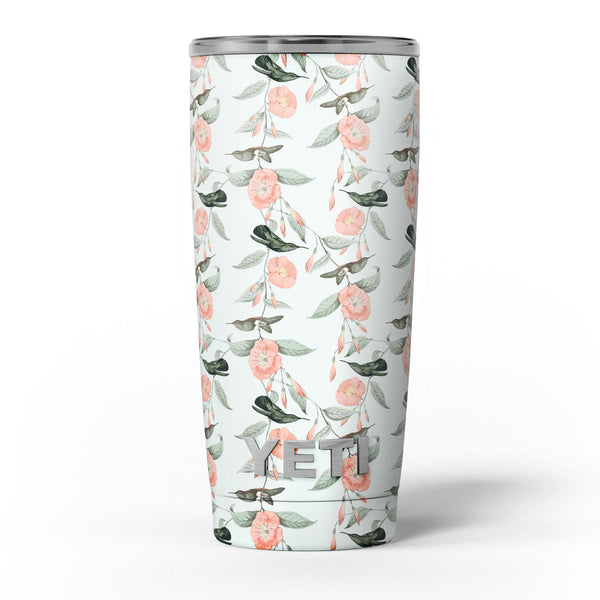 The_Coral_Flower_and_Hummingbird_All_Over_Pattern_-_Yeti_Rambler_Skin_Kit_-_20oz_-_V5.jpg