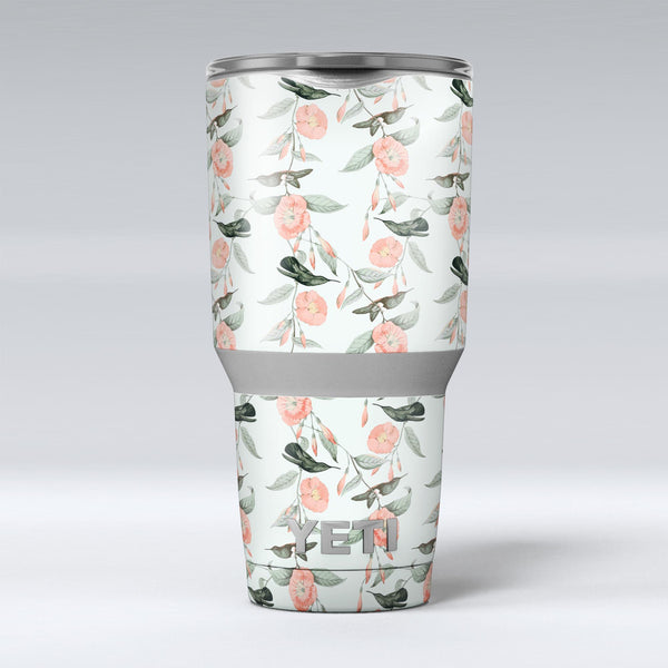 The_Coral_Flower_and_Hummingbird_All_Over_Pattern_-_Yeti_Rambler_Skin_Kit_-_30oz_-_V1.jpg